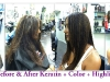 Before and after Keratin plus color
