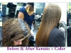 Keratin before and after
